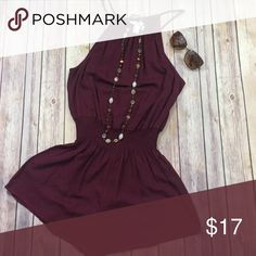 Forever 21 Romper Burgundy Forever 21 Romper. Great fall color for the warm days we have left. Never wore. Tags attached. Smoke free home. Bundle with necklace and save $$ Forever 21 Tops