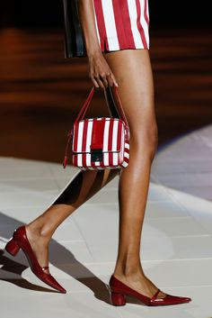 Red & White- Marc Jacobs Spring 2013 RTW....SHARP, sharp, sharp shoe!!!I want a pair! ;)
