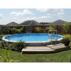 Discover 27 semi inground pool ideas for your inspiration. Browse photos of semi inground pools with deck. A collection of semi inground pool landscape ideas. Above Ground Pool Landscaping, Above Ground Pool Decks, Backyard Pool Landscaping, Above Ground Swimming Pools, In Ground Pools, Landscaping Design, Pool Fence, Diy In Ground Pool, Oberirdische Pools