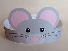 Mouse Paper Crown – Printable Create your own Mouse Crown! Print, cut & glue your crown together & adjust to fit anyones head!Bunny Paper Crown Printable by PutACrownOnIt on EtsyBrowse unique items from PutACrownOnIt on Etsy, a global marketplace of han Crown Printable, Diy And Crafts, Crafts For Kids, Mouse Crafts, Paper Crowns, Animal Crafts, Printed Materials, Craft Activities, Paper Crafting