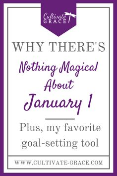 Have you set goals for 2017? Having goals keeps you on track and holds you accountable to making what matters happen. But what if you haven't set any goals yet for this year? It's already the end of February, and you're feeling so far behind...  Well, I'm here to tell you there's grace for that, dear sister! What if I told you there's nothing magical about January 1? Click to find out what I mean!