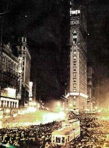 Spend New Years Eve in Times Square NYC.  First Ball Drop: 1907