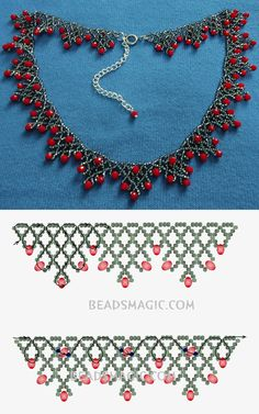 Best Seed Bead Jewelry 2017 Free Pattern for Sorbo Rocailles Necklace . - Best seed bead jewelry 2017 Free pattern for necklace Sorbo Rocailles … – - Beaded Necklace Patterns, Seed Bead Patterns, Bracelet Patterns, Beading Patterns, Beaded Necklaces, Loom Patterns, Necklace Designs, Necklace Ideas, Diy Necklace