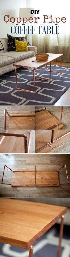 Check out how to build this easy DIY Copper Pipe Coffee Table @istandarddesign