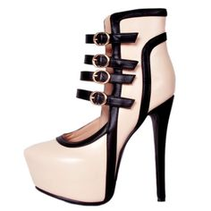 Onlymaker Women s Round Toe High Heel Silp On Platform With Straps Mary  Jane Pumps Womens High 85ab2bdeac4f
