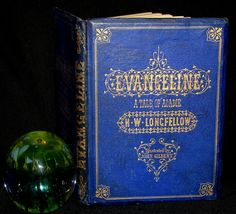 1856 Rare Victorian Book - Evangeline A tale of Acadie by Henry Wadswo – MFLIBRA - Antique Books