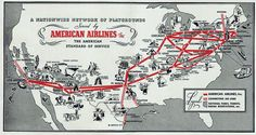 American Airlines Timetables, Route Maps, and History.