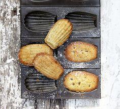 Pistachio & orange madeleines
