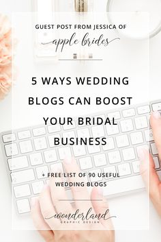 Guest Post: 5 Ways Wedding Blogs Can Boost Your Bridal Business. The editor of Apple Brides blog shares how wedding blogs can help wedding businesses and professionals such as planners, wedding photography, bridal designers to further their biz through social media and networking. Plus get free printable list of 90 wedding blogs.