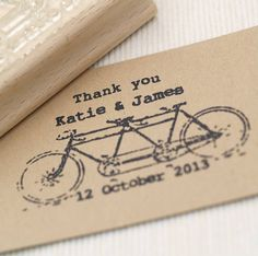 tandem bike wedding favours stamp by beautiful day | notonthehighstreet.com