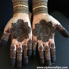 50 Most beautiful Tikki Mehndi Design (Tikki Henna Design) that you can apply on your Beautiful Hands and Body in daily life. Pretty Henna Designs, Indian Henna Designs, Full Hand Mehndi Designs, Modern Mehndi Designs, Mehndi Designs For Fingers, Wedding Mehndi Designs, Mehndi Design Images, Beautiful Mehndi Design, Simple Mehndi Designs
