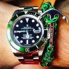 Beautiful Rolex submariner together with a Virginstone anchor bracelet.  by successluxury365 #rolex #submariner