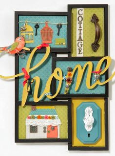 Make a fun collage to with trinkets for super cute home decor wall art.