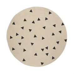Ferm Living Teppich rund - triangle - Ferm Living