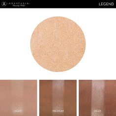 Eye Shadow Singles with skin swatch in the shade Legend