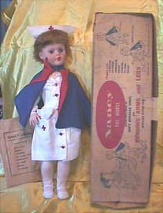 This is a similar Nancy Nurse doll I got for Christmas when I was 3. I think it was part of my inspiration to become a nurse...