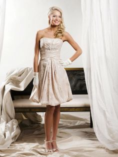 Softly Curved Neckline Draped Bodice A-line Wedding Dress