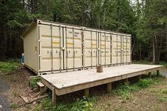 This Container in the Woods is Hiding an Amazing Interior