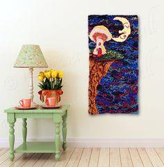 Magic Mushroom Mushroom House Crescent Moon by HeartWishezStudio