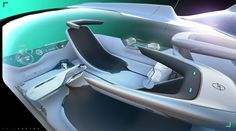 Innovative interior concept by Erik Saetre at Diy Interior, Car Interior Sketch, Car Interior Design, Interior Design Sketches, Interior Rendering, Interior Concept, Automotive Design, Porsche, Spaceship Interior