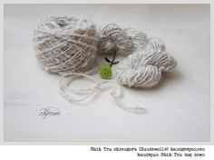 Shih Tzu Chiengora (Hundewolle) handgesponnen handspun Shih Tzu dog down