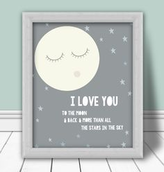 I love you to the moon and back. From blue pelican design on etsy!!!