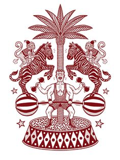 T-shirt illustration for French label StepArt. Illustrations, Illustration Art, Crazy Wallpaper, Circus Art, Flash Art, Aboriginal Art, Drawing Poses, Art Model, Vintage Halloween