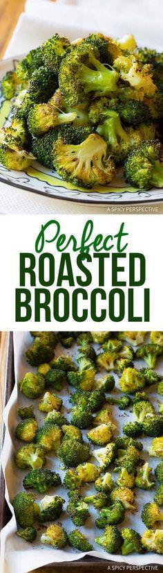 Perfect Roasted Broccoli Recipe | http://ASpicyPerspective.com