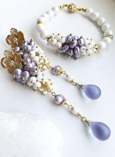 making beaded jewelry Stone Jewelry, Wire Jewelry, Jewelry Sets, Jewelry Crafts, Jewelery, Jewelry Findings, Handmade Bracelets, Earrings Handmade, Handmade Jewelry