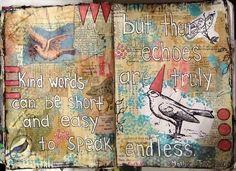 kind words journal pages by nayski (Renee Stien), via Flickr