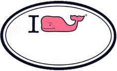"Vineyard Vines ""I (Whale) [BLANK]"" Sticker"