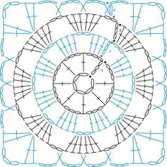 Granny Square patterns - Simply Crochet Learn to Crochet – Crochet Wave Fan Edging. How I made this wave fan edging border stitch. Crochet Squares, Crochet Motifs, Granny Square Crochet Pattern, Crochet Blocks, Crochet Diagram, Crochet Chart, Crochet Granny, Crochet Stitches, Crochet Patterns
