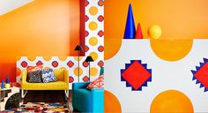 Modhaus - Dulux Australia Modhaus takes its cues from design movements where colour was explored using bold playful combinations. Memphis design of the 1980s is at the core of this trend. Contrasting colour blocks and graphic patterns, often in black and white, are paired with repetitive geometric shapes to balance out the colour play.