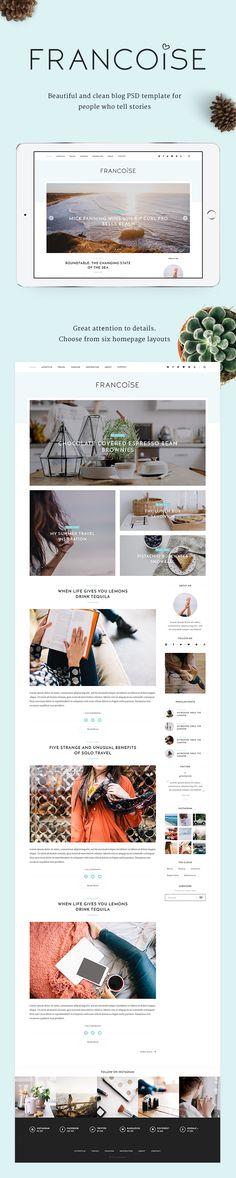 PSD Templates - Francoise - Blog PSD Template   ThemeForest