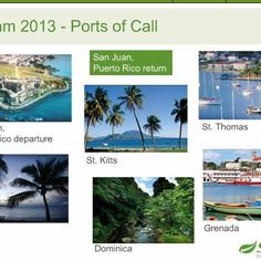 Ports to Call....Join us as we cruise the Caribbean visit www.ttraudt.myshaklee.com or email TTraudt@gmail.com