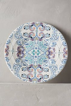 Swirled Symmetry Side Plate - anthropologie.com - I want this, but in fabric for a shower curtain.