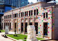 Polka dot city center, Wellington, New Zealand!