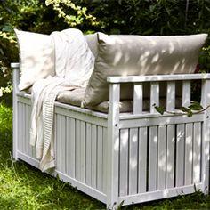 Die besten 25 gartenbank mit truhe ideen auf pinterest sitztruhe truhenbank garten und - Gartenbank mit aufbewahrung ...