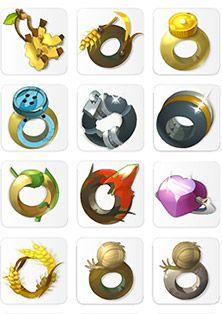 Wakfu MMORPG - AAA icons: Anneaux, Amulettes et Accessoires