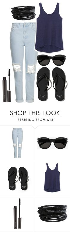 """""""Untitled #11"""" by noynoy2500 ❤ liked on Polyvore featuring Topshop, Yves Saint Laurent, Abercrombie & Fitch, Rebecca Minkoff, Laura Mercier and Pieces"""
