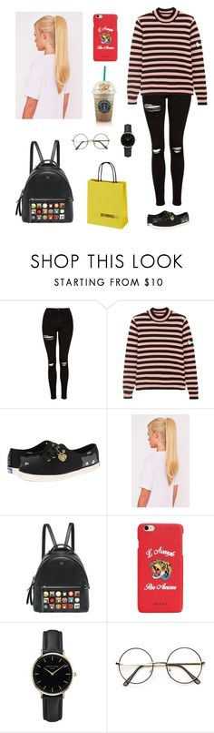 """""""Monday back to korea"""" by heyooo190503 ❤ liked on Polyvore featuring Topshop, Shrimps, Keds, Fendi, Handle, Gucci and ROSEFIELD"""