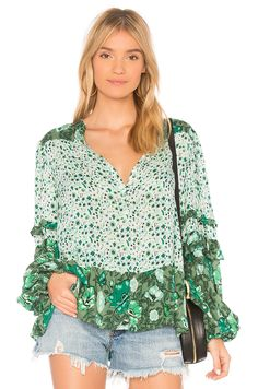 46c111b9d82 Shop for Spell   The Gypsy Collective Winona Blouse in Ivy at REVOLVE. Free  day shipping and returns