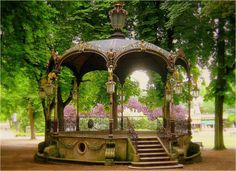 I love gazebos! This one is ornate and gorgeous!