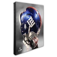 NFL New York Giants Beautiful Gallery Quality High Resolution Canvas 16 x 20 * Visit the image link more details. New York Giants Football, Nfl Arizona Cardinals, Bobble Head, Game Art, Football Helmets, Shoulder Bag, Canvas, Gallery, England Patriots