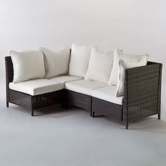 Solano All-Weather Wicker Sectional $149 #MarkTaylorDreamHome   #WorldMarket
