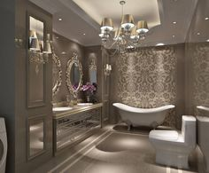Love the inset in the ceiling and the lighting, as long as you could also turn up the lighting for make-up application!