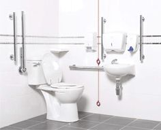 Powder Coating Can Be A Great Sleek Simple Solution For A Modern Captivating Elderly Bathroom Design Inspiration Design