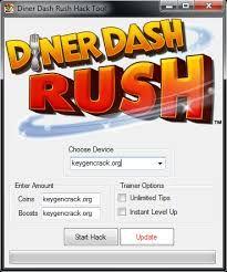 Diner Dash Rush Hack Hacks, School, Tips