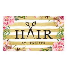 Creative Hair Scissor Typography Salon Appointment Business Card #Appointment #Cards