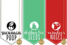 Tic Tac Christmas Labels // Free Printable - Somewhat Simple
